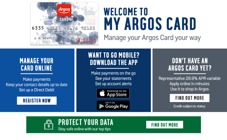 Welcome to My Argos Card
